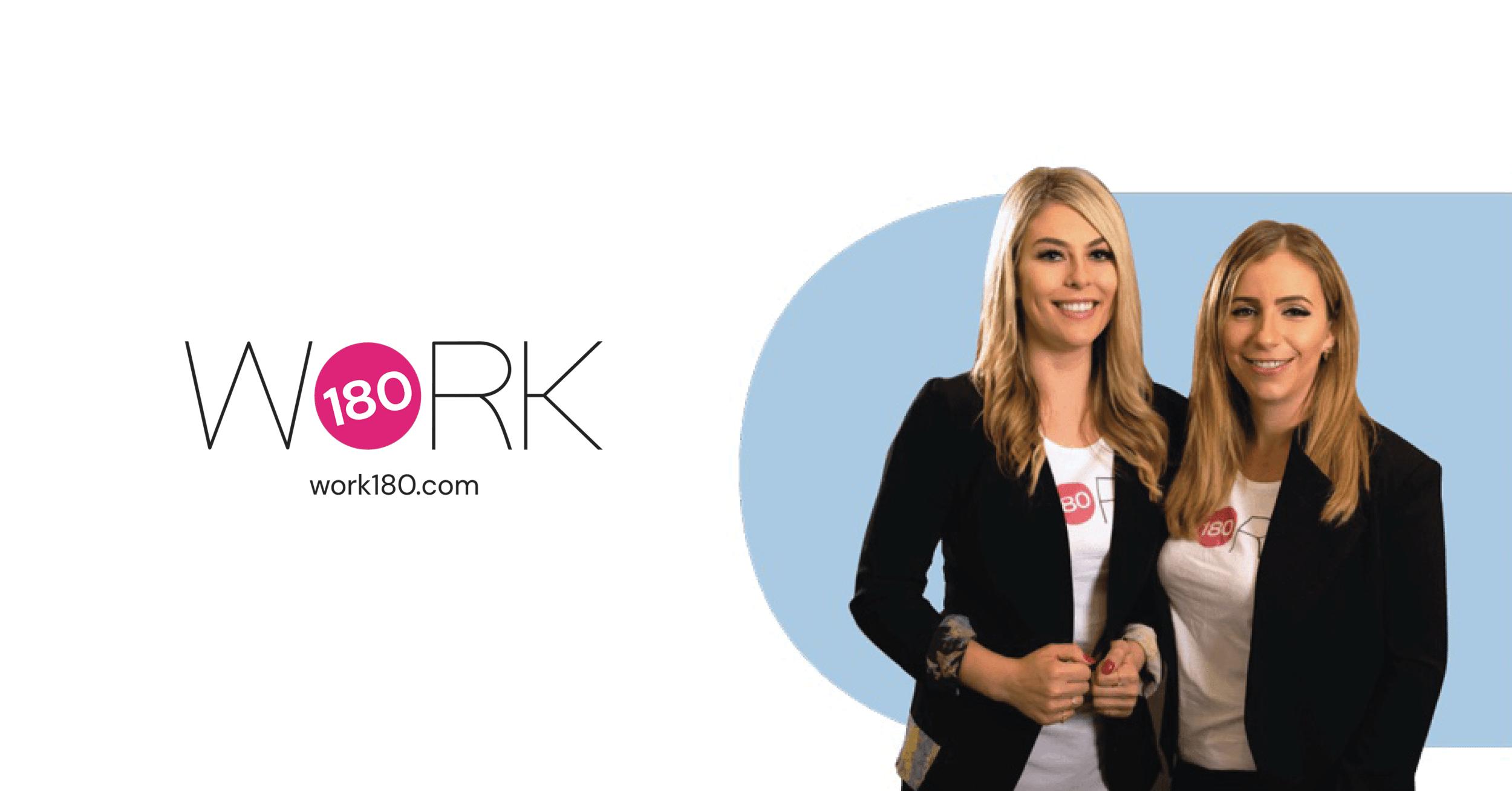 Gemma Lloyd and Valeria Ignatieva, CEOs and Co-founders of WORK180